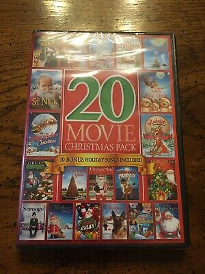 NEW, DVD of 20 Christmas Movies (977 Minutes), Color & Black and White + Bonus