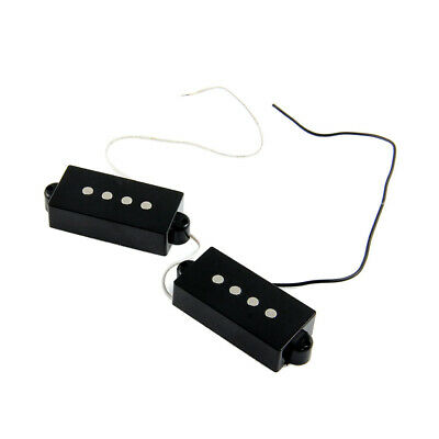 1 Pair 4-String Open Style Pickup for PB Precision Bass Guitar Parts Black