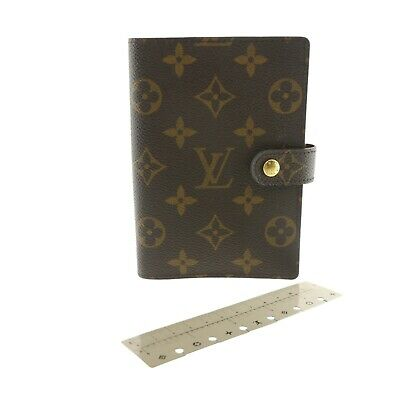 Auth LOUIS VUITTON Agenda PM Day Planner Cover Monogram Canvas R20005 #f40379