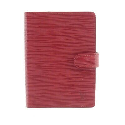 Auth LOUIS VUITTON Epi Agenda PM Day Planner Cover Red Leather R2005E #f41439