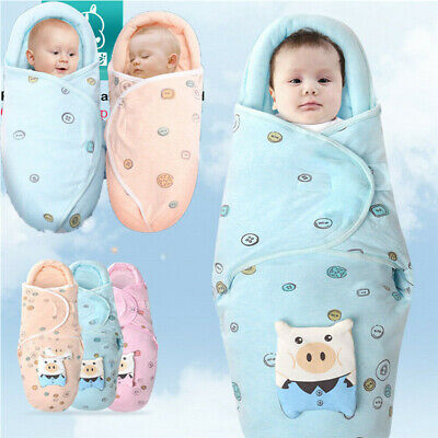 Newborn Baby Boy Girl Infant Swaddle Wrap Swaddling Blanket Sleeping Bag