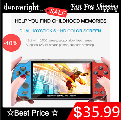 """5.1"""" 8GB Retro PSP Game Consoles Handheld Portable Games Built-in 10,000 Games"""