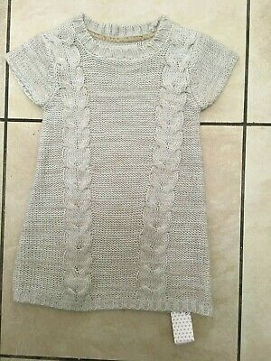 Young Dimension Primark Girls Knitted Jumper Dress Age 2-3 Years BNWT Beige