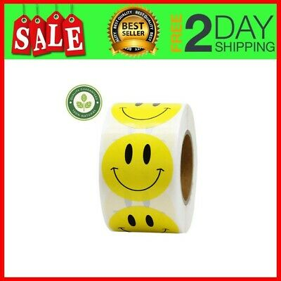 1.5 inch Smiley Face Stickers Roll Happy Face Stickers Circle Dots Paper Labels