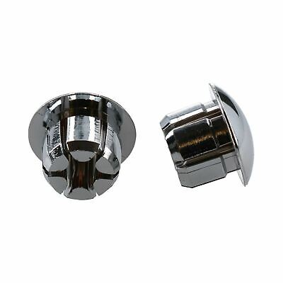 Pair Oxford Bicycle Cycle Bike Handlebar Bar End Plugs Push-in Chrome HT617C
