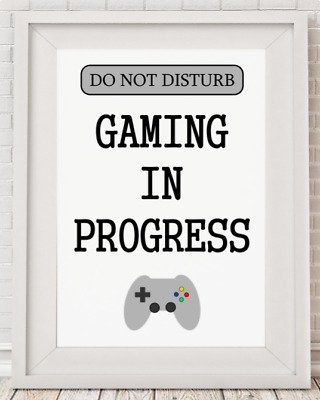 Gaming Gamer Console Boys Girls Playroom Bedroom Poster Print Picture A4 PR62