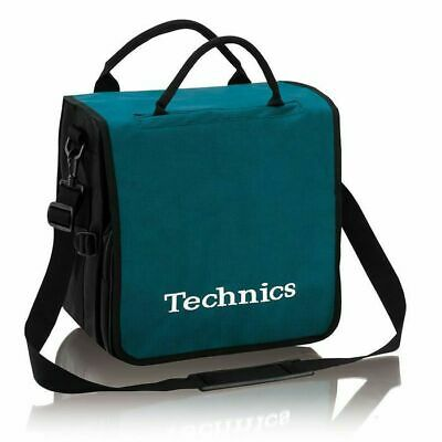 Technics Backpack 12 Inch LP Vinyl Record Bag (turquoise with white logo)