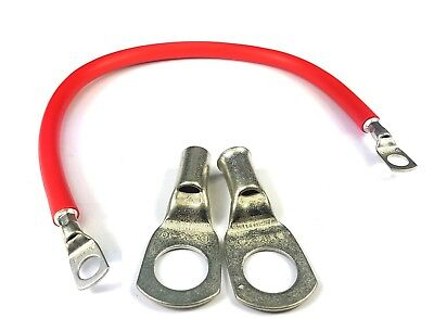 """BATTERY TERMINAL 9/"""" 225mm CAR BATTERY RED POSITIVE STARTER LEAD CABLE STRAP"""