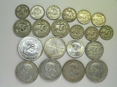 Portugal Lot of 20 Different Silver Coins dated 1879 to 1968, Circ to BU - UNC