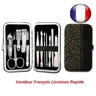 Set-Trousse-Manucure-12-Pieces-Pedicure-Manicure-Kit-Coupe-Ongles-Pince-comedon