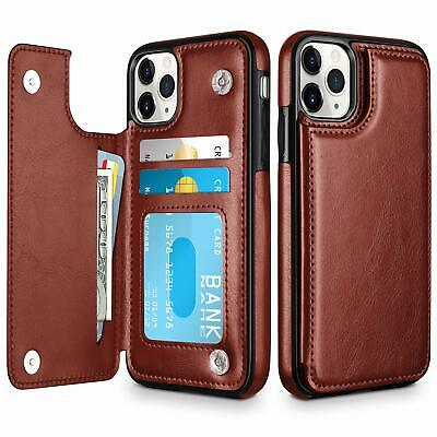 Credit Card Slot Flip PU Leather Magnetic Wallet Case For iPhone 11 Pro Max