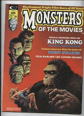 monsters of the Movies #1 Horror film  Magazine #1 marvel stan lee King Kong