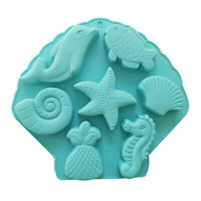 Ocean Animals Cake Fondant Chocolate Baking Mold Ice Cube Tray Jelly Candy Mould