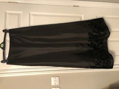 Hobbs - Black Evening Skirt 12