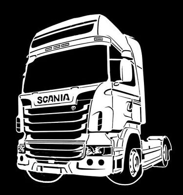 high detail airbrush stencil SCANIA TRUCK FREE UK POSTAGE