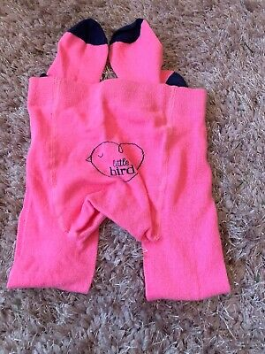 Little Bird By Jools Oliver Tights, Pink One New, Girl 5-6 Years