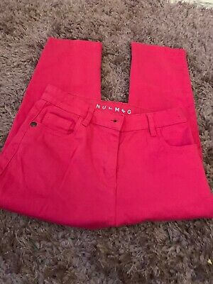 Nutmeg girls Pink Cropped  trousers Age 8-9 years