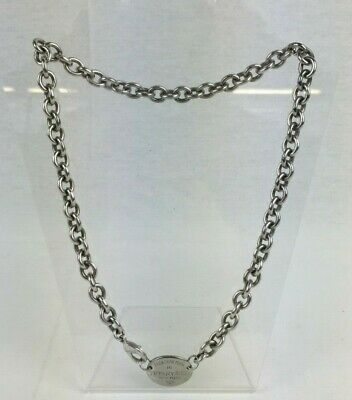 Vintage Solid Sterling Silver 925 PLEASE RETURN TO TIFFANY & CO Chain Necklace