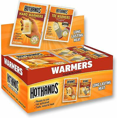 HotHands Hand & Toe Warmers - Long Lasting Safe Natural Odorless Air Activated W