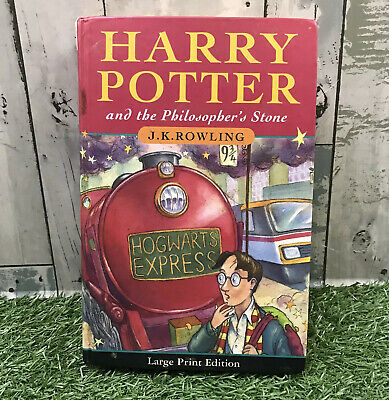 Harry Potter & The Philosopher's Stone Large Print 1st First Edition 2nd Print