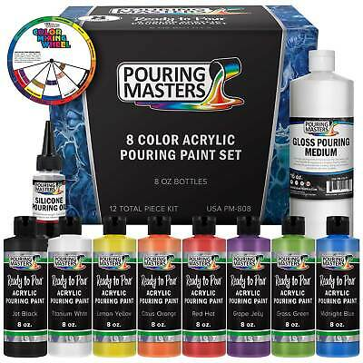 Pouring Masters 8-Color 8-Ounce Pouring Paint Set