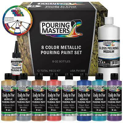 Pouring Masters 8-Color 8-Ounce Metallic Pouring Paint Set