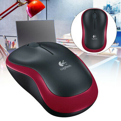 NEW Logitech M185 Wireless Optical Mouse - Black & Red - Currys  UK