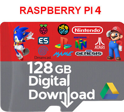 Retropie Raspberry Pi4 128 Gb Digital Image Ready & Working