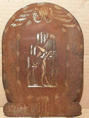 Scarce Antique Ancient Egyptian Stela King Akhenaten Queen Nefertiti Sun1353BC
