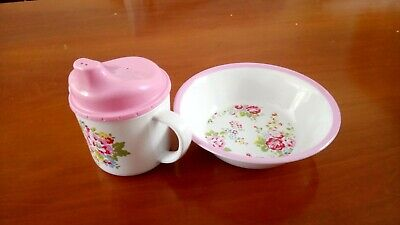 Cath Kidston Baby Toddler Sippy Cup (new) And Bowl