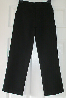 Girls plain black school trousers from George, age 9/10 years (height 135/140cm)