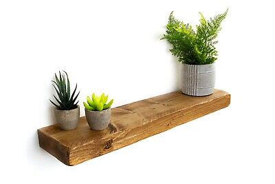 Rustic Floating Shelves Handcrafted Using Solid Wood 15 cm deep 5 cm thick
