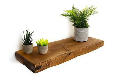 Rustic Floating Shelves with Arrowhead Corners Handcrafted 22cm Depth x 5cm