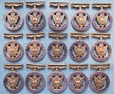 Lot of 15 US Army Distinguished Service Medal mini-medal pendants