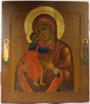 c1880 ANTIQUE RUSSIAN ORTHODOX ICON FEODOROVSKAYA MADONNA MOTHER OF GOD ИКОНА