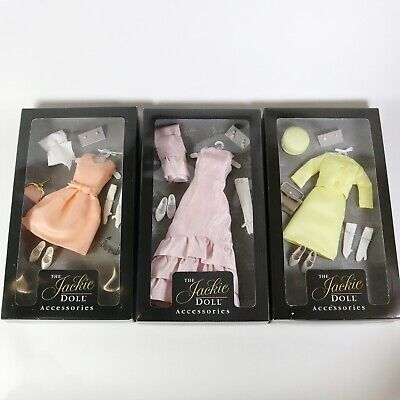 The Jackie Doll Accessories Franklin Mint (3) Outfits - New, Jacqueline Kennedy
