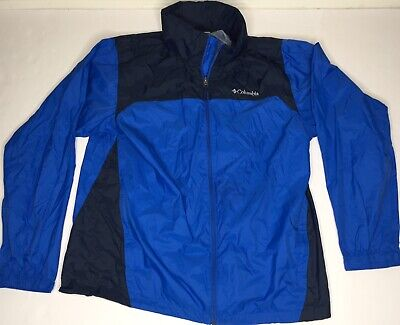 L Columbia Mens Rain Jacket Glennaker Lake Waterproof Packable Nylon 1442361