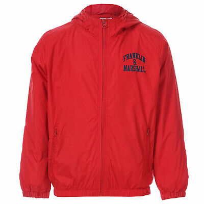Boys Franklin And Marshall Junior Boys Badge Logo Windcheater Jacket in Red -