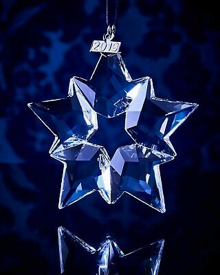 2019 Swarovski Crystal Snowflake ANNUAL EDITION Lrg CHRISTMAS ORNAMENT free ship