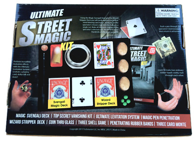 Deluxe ULTIMATE STREET MAGIC KIT 250 Tricks Book Set Beginner Magician Pen Cards