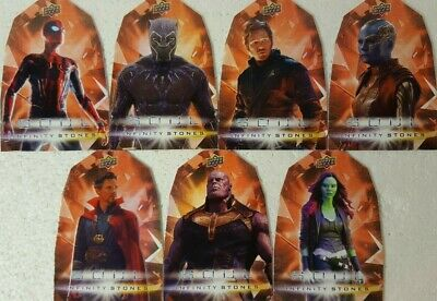 2018  Marvel Avengers Infinity War SOUL Stones DIE CUT 7 Cards Set OS1 - 7