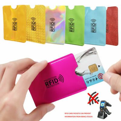 10x RFID Blocking Sleeve Credit Card Protector Bank Card Holder for Wallets