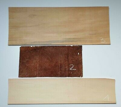 Lot placages : 14 essences = 1,05 m²  (marqueterie placage, restauration) L236