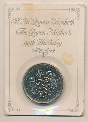 Great Britain: 1990 £5 Crown Queen's Mother 90th Birthday in Royal Mint Package