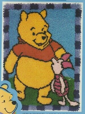 "Rare Caron Int Disney Winnie The Pooh & Piglet ""Hundred Acre Buddies"" Latch Hook"