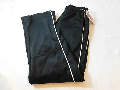 Soffe Women'S Junior's s small Black White Warm Up Pants Active Pre-owned