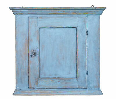 Small 19Th Century Swedish Painted Hanging Wall Cabinet