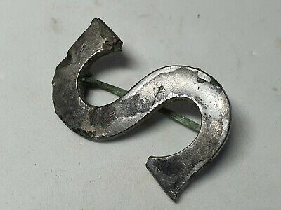 Ancient Roman Bronze Brooch Letter S  1st - 3rd century AD