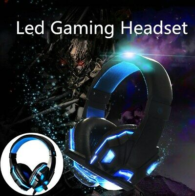 For Xbox Nintendo Switch PC 3.5mm Stereo Headphones Mic LED Gaming Headset Z