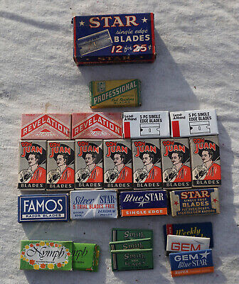 Bundled Lot of Assorted Unused Vintage Safety Razors Blades